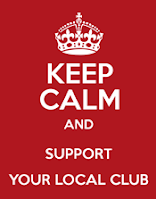 Keep calm and support your club